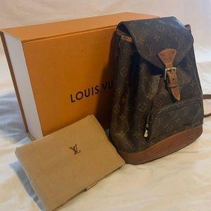 100% Auth Louis Vuitton Montsouris MM Backpack